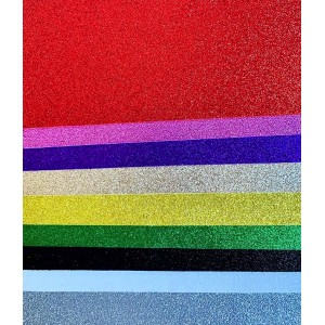 Foam Glitter Sheets Multi - 10 piece