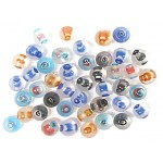 Glass Beads - Inner Stripe Frosted Mix