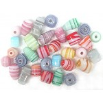 Glass Beads - Opaque Swirl Gloss Mix