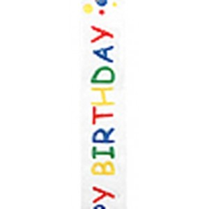 Sheer Printed with Happy Birthday