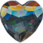 Rhinestones Heart - 10mm