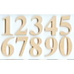 Craftwood Numbers - 170mm x 12mm Thick