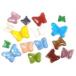 Glass Beads - Butterfly Mix