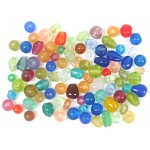 Glass Beads - Frosted Small Mix