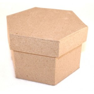 Paper Mache Boxes - Hexagon Shape